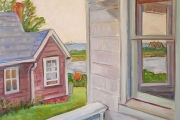 "Kate Knapp, ""Andrews's Porch,"" oil on canvas, 30x30"", $2500.00"
