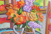 "Kate Knapp, ""Block Island Bouquet,"" oil on canvas, 16x20"", $1000.00"