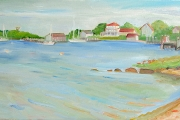 "Kate Knapp, ""Bonnell Beach View I,"" oil on canvas, 15 X 30"", $1100.00"