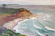 "Kate Knapp, ""East Side View Stormy Day,"" oil on canvas, 24 x 30"", $1900.00"
