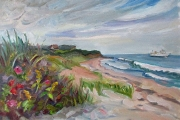 "Kate Knapp, ""Mansion Beach View,"" oil on canvas,  20 x 24"", $1500.00"
