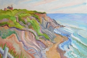 "Kate Knapp, ""Mohegan Bluffs Morning I,""  oil on canvas,  24 x 30"", $2000.00"