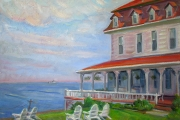 "Kate Knapp, ""Spring House View,"" oil on canvas, 20 x 24"", $1600.00"