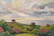 "Kate Knapp, ""West Side View Clouds,"" oil on canvas, 24 x 36, $2500.00"