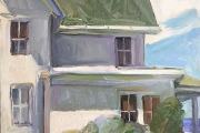 """Kate Knapp, """"Andrews House with Big Clouds"""", 24 x 30,  oil on canvas,  $1200.00"""