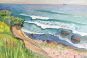 """Kate Knapp, """"Bluffs On The East Side"""",  20 x 24"""", oil on canvas,  $1400.00"""