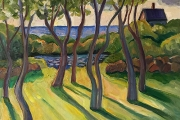"""Kate Knapp, """"Cooneymus Sunset with Wiggle Trees"""",  24 x 24"""", oil on canvas,  $1200.00"""