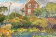 """Kate Knapp, """"House on the Corner at Painted Rock, Autumn"""", 20 x 24"""", $975.00"""