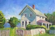 "Kate Knapp, ""Old House On Fresh Pond"",  16 x 20"",  oil on canvas,  $950.00"