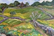 "Kate Knapp, ""Stone Wall Landscape"", 16 x 20"", oil on canvas,  $850.00"