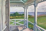 """Kate Knapp, East Side Porch Morning, oil on canvas, 24 x 30"""", $3000.00"""
