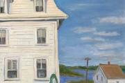 """Kate Knapp, Narragansett Inn Evening Light, oil on canvas, 24 x 24"""", $1600.00"""