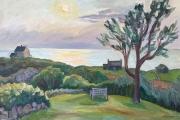 "Kate Knapp, Sunset View Westside, oil on canvas, 20 x 30"", $1800.00"