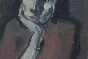 "Bernard Lamotte,""Untitled - Pensive Woman"", oil on canvas on panel,  8 X 12"",      1200.00"