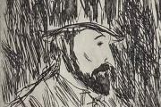 """Bernard Lamotte, """"Swann"""", etching, matted unframed $350.00"""