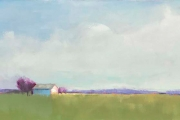 "Carrie Megan, ""Pastoral Serenity"",  oil on canvas,  20 x 40"", $1500.00"