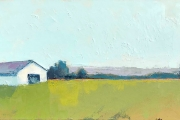 "Carrie Megan, ""Barn Again"", 12"" x 24"", oil and cold wax on canvas, $850.00"