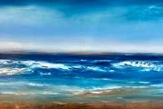 "Tom Martinelli,  ""Summertime"", oil on copper, 18 x 42"", $1800.00"