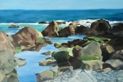 "Marilyn Bogdanffy, ""Tidal Pool Near Scotch Beach"", oil on canvas, 24 x 30,  $3500.00"