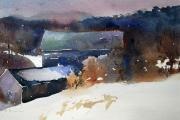 "Gerard Blouin, ""Stillness"", watercolor, 16"" x 20"",  $625.00 framed"