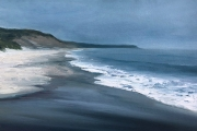 "Whitney Knapp Bowditch, ""Scotch Surf"", oil on prepared paper,  8"" x 11"",  $700.00 unframed"