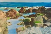 """Marilyn Bogdanffy, Tidal Pool, oil on canvas, 24 x 30"""", $3500.00"""