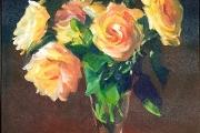 "Marilyn Bogdanffy, Yellow Roses,  oil on canvas, 11 x 14"", $1,200.00"