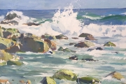 "Peter M Gish, Breaking Waves,  oil on canvas, 18 x 24"", $5,000.00"