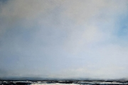 "Tom Martinelli, Calm Seas,  oil and cold wax on canvas, 50 x 50"", $5,000.00"