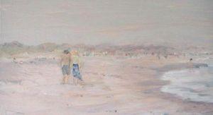 """Jessie Edwards, """"Crescent Beach in Fog"""""""