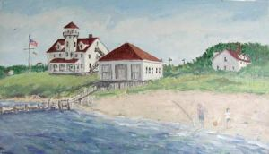 """Jessie Edwards, """"Coast Guard Station"""""""